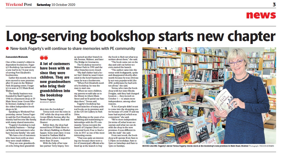 Long-serving Bookshop Starts new chapter